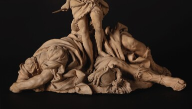 View 3. Thumbnail of Lot 143. David Triumphant Over Goliath.