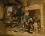 SIR EDWIN HENRY LANDSEER, R.A. | Death of Elspeth Mucklebackit from Scott's The Antiquary