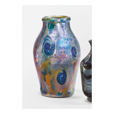 "View 1. Thumbnail of Lot 15. TIFFANY STUDIOS | ""CYPRIOTE"" VASE."