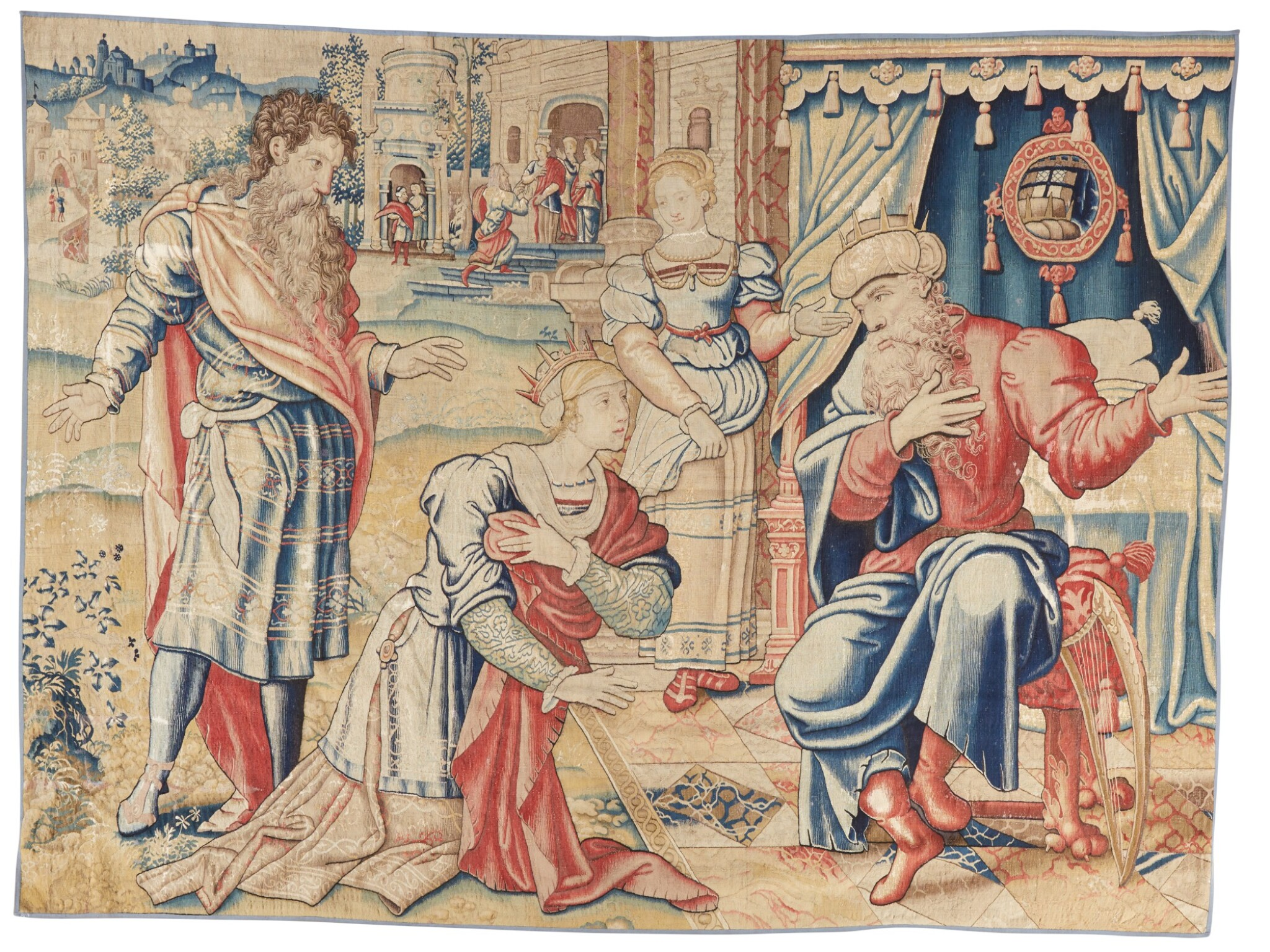 View full screen - View 1 of Lot 4. A Flemish classical narrative tapestry, possibly from the Story of David, Brussels, first quarter 16th century.