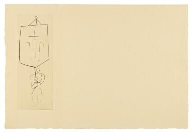PABLO PICASSO | LE FRÈRE MENDIANT: PRÊTRE JEAN. UNE CROIX (B. 897; BA. 1018)