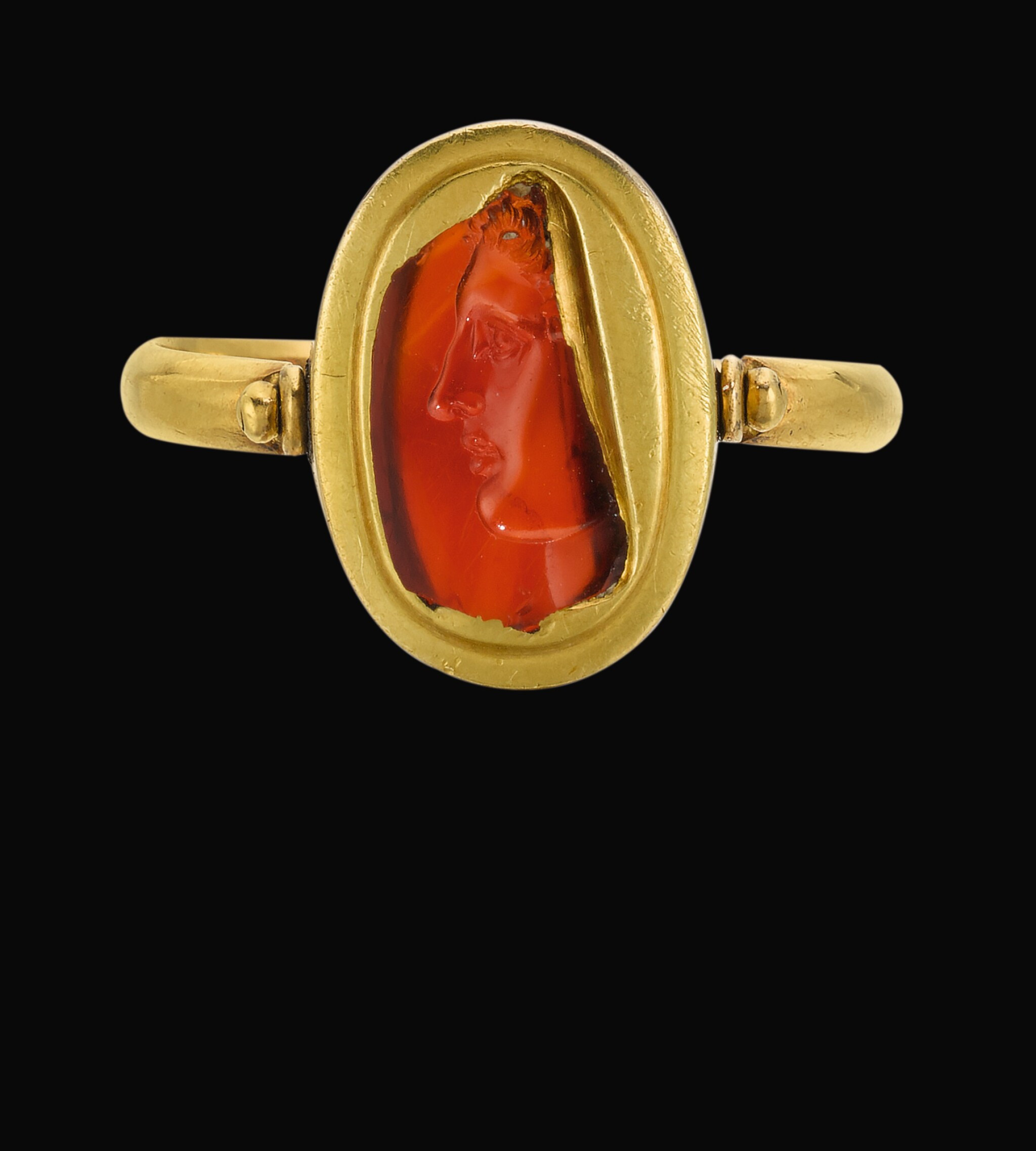 View full screen - View 1 of Lot 79. A FRAGMENTARY CARNELIAN INTAGLIO, PROBABLY LATE HELLENISTIC, CIRCA 2ND/1ST CENTURY B.C..