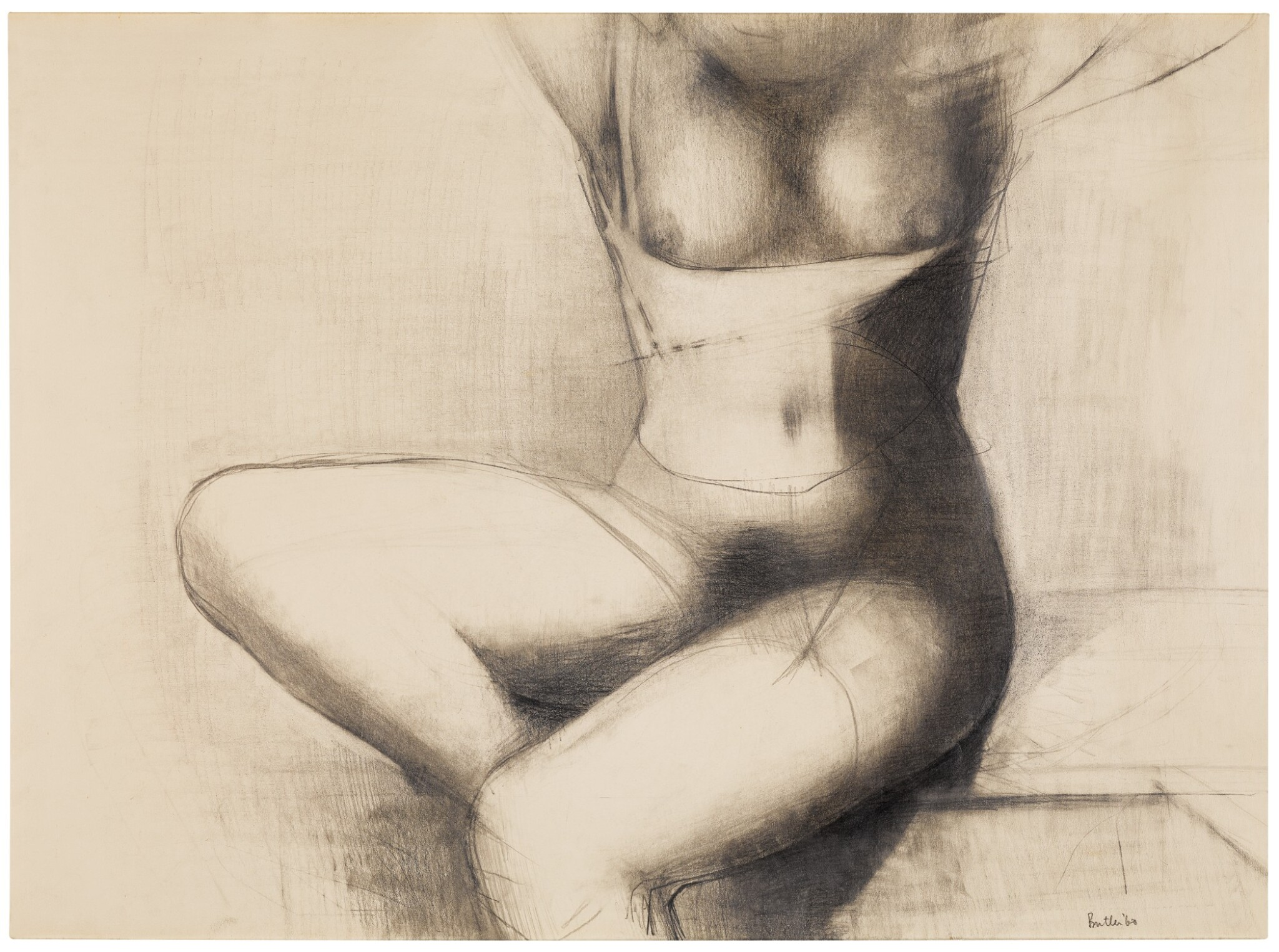View full screen - View 1 of Lot 680. REG BUTLER | UNTITLED (SEATED TORSO).