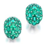 GRAF | PAIR OF EMERALD AND DIAMOND EARRINGS