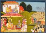 A GROUP OF NINE ILLUSTRATIONS FROM THE BHAGAVATA PURANA: THE ABDUCTION OF RUKMINI, INDIA, KANGRA OR GULER, CIRCA 1830-40