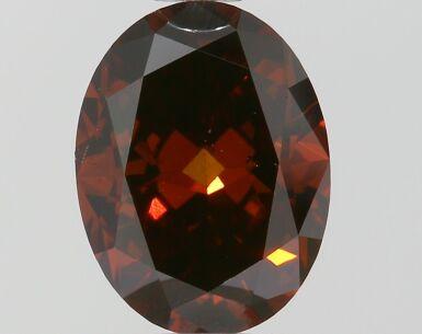 A 1.04 Carat Fancy Dark Orangy Brown Oval-Shaped Diamond, SI1 Clarity
