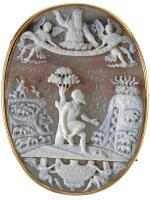 ITALIAN, PROBABLY MILAN, SECOND HALF 16TH CENTURY | CAMEO WITH MOSES REMOVING HIS SANDALS BEFORE THE BURNING BUSH