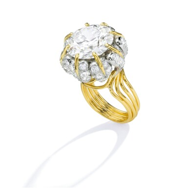 View 3. Thumbnail of Lot 496. GOLD AND DIAMOND RING, SCHLUMBERGER FOR TIFFANY & CO.   黃金鑲鑽石戒指,Schlumberger 蒂芙尼.