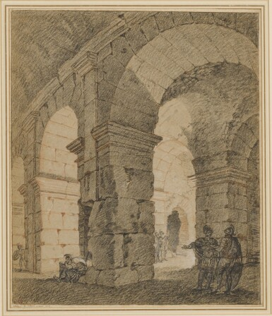 View 2. Thumbnail of Lot 147. Soldiers standing within an architectural ruin.