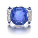 Sapphire and diamond ring | 藍寶石配鑽石戒指
