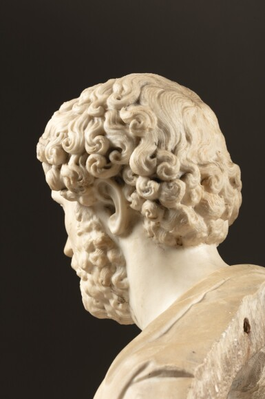 View 3. Thumbnail of Lot 98. FRENCH, CIRCA 1675-1725, AFTER THE ANTIQUE   BUST OF EMPEROR SEPTIMIUS SEVERUS (145-211 C.E.).