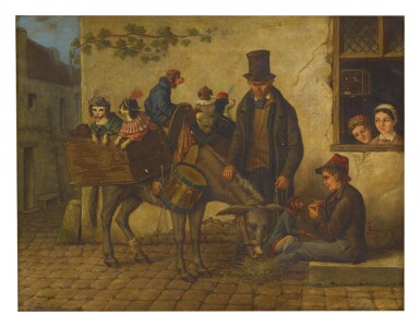 G. BALDONI   AN ORGAN-GRINDER WITH MONKEYS AND DOGS