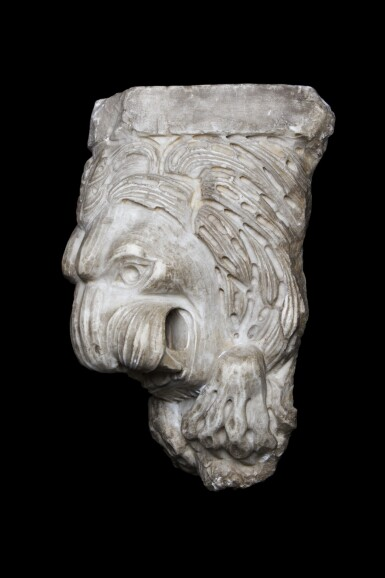 View 2. Thumbnail of Lot 133. South Italian, probably 14th/ 15th century | Corbel with a lion.