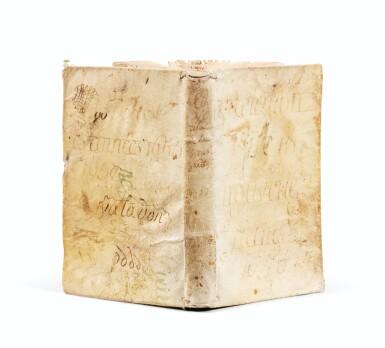 View 1. Thumbnail of Lot 111.  [LE JEUNE]. Relation de ce qui s'est passé.... Paris, 1658. In-8. Vélin souple de l'époque. EO.
