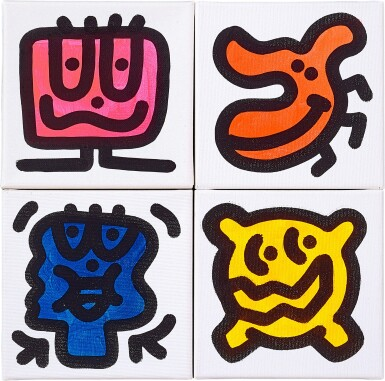 View 1. Thumbnail of Lot 6. Doodlings (Four Works)   塗鴉(四幅作品).
