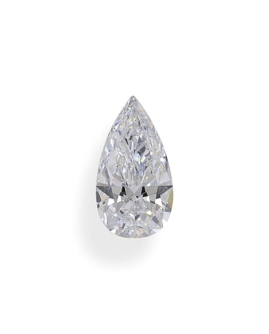 A 2.47 Carat Pear-Shaped Diamond, D Color, Internally Flawless