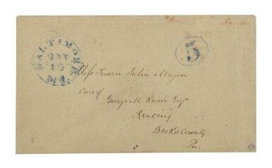Lot 6 Postmaster's Provisional, Baltimore, MD. 1845 5c Red (3XU2)