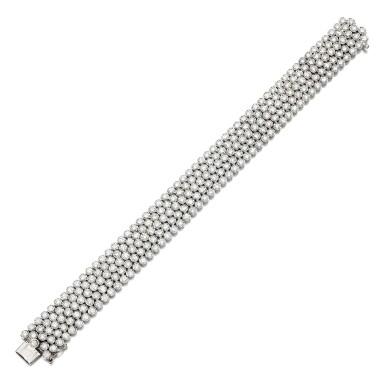 View 2. Thumbnail of Lot 20. Diamond bracelet.