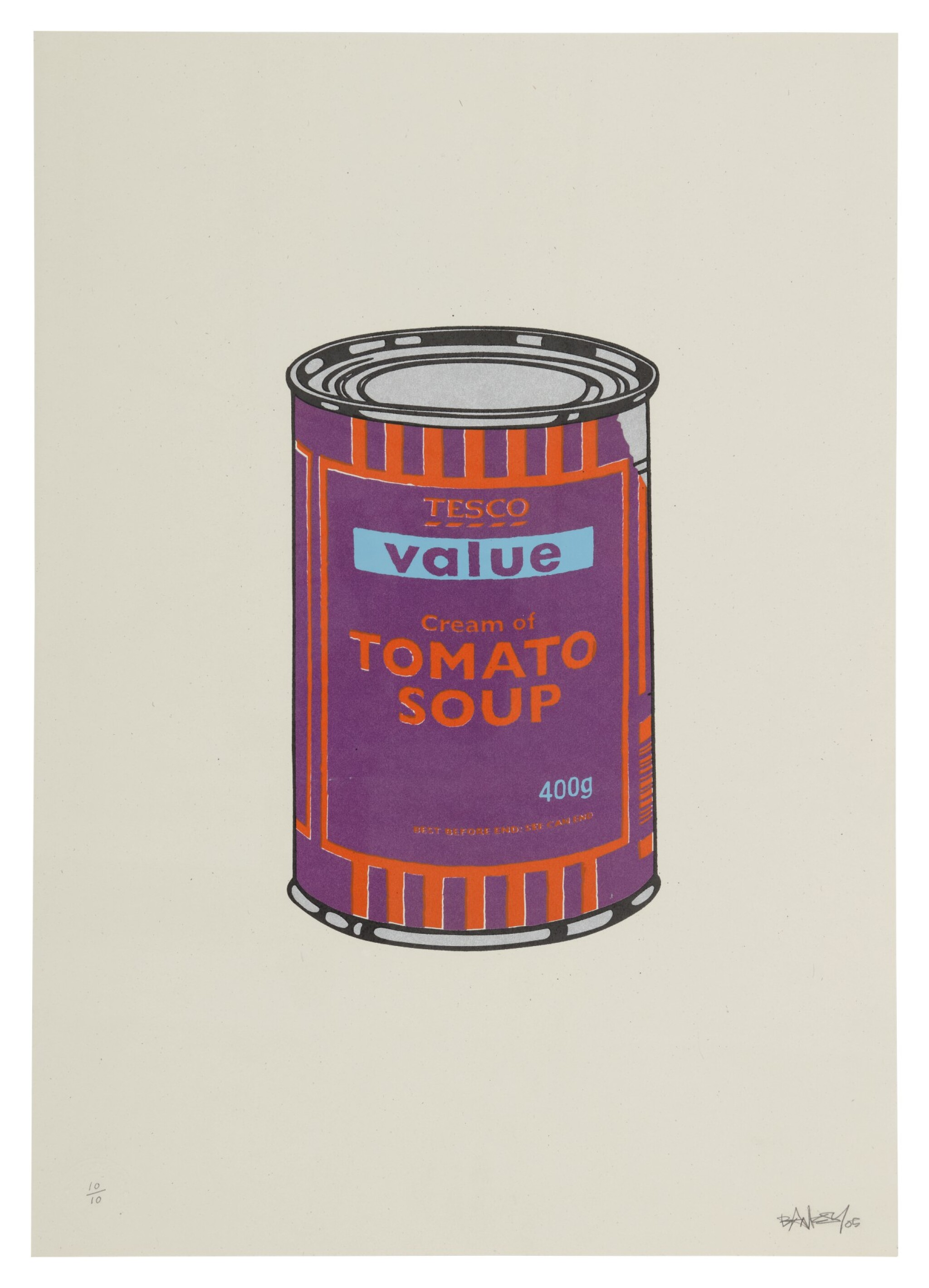 View 1 of Lot 8. Soup Can - Purple / Orange / Blue.