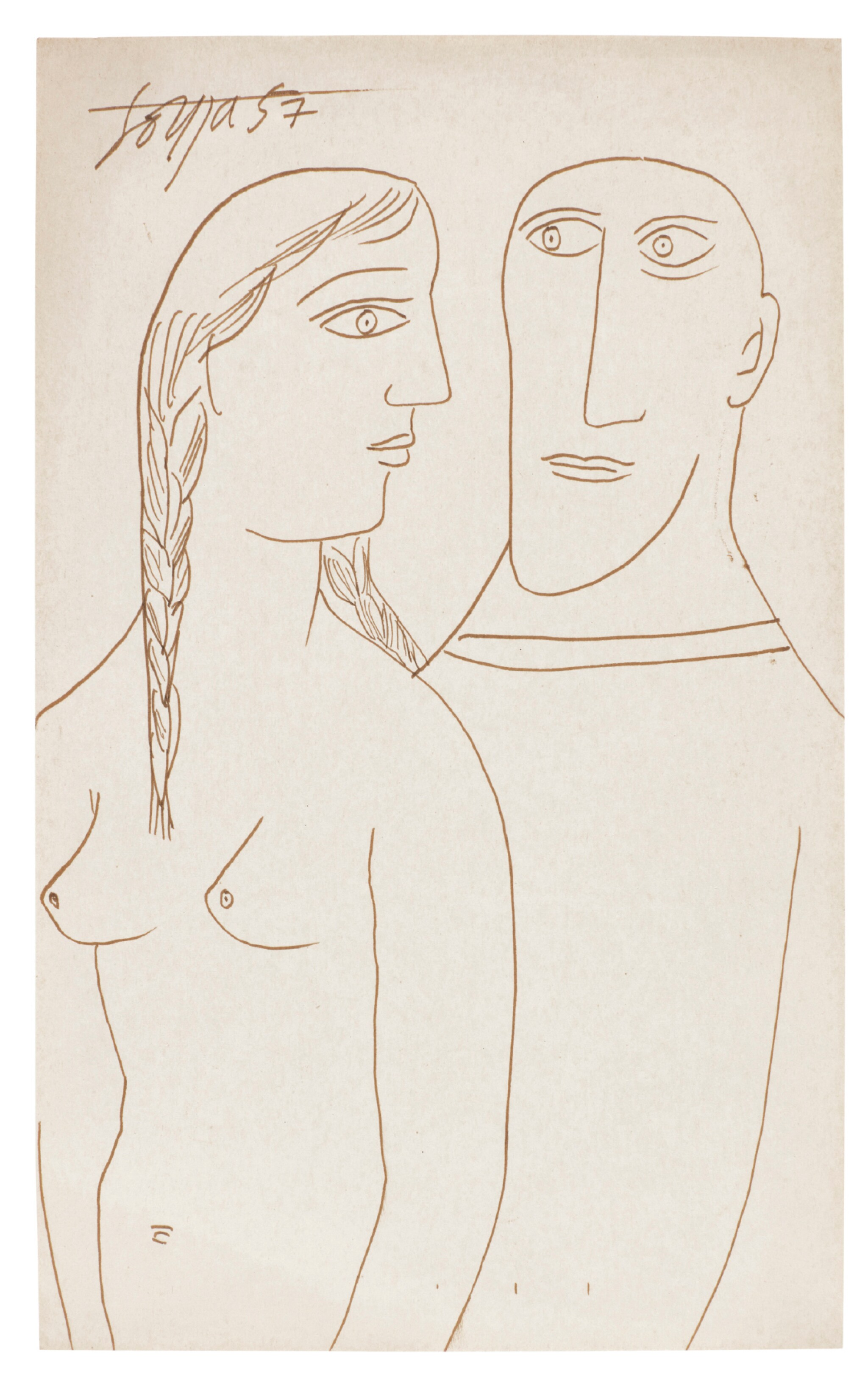 View 1 of Lot 121. FRANCIS NEWTON SOUZA | Untitled (Couple).