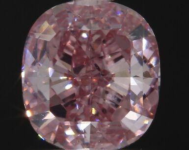 A 1.16 Carat Fancy Intense Pink Cushion-Cut Diamond, VVS2 Clarity