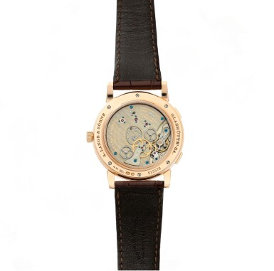 View 5. Thumbnail of Lot 17. Reference 116.032 Lange 1 Time Zone  A pink gold world time wristwatch with date and power reserve, Circa 2010.