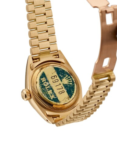 View 3. Thumbnail of Lot 9. ROLEX |  DATEJUST, REFERENCE 69178, A YELLOW GOLD WRISTWATCH WITH DATE AND BRACELET, CIRCA 1983.