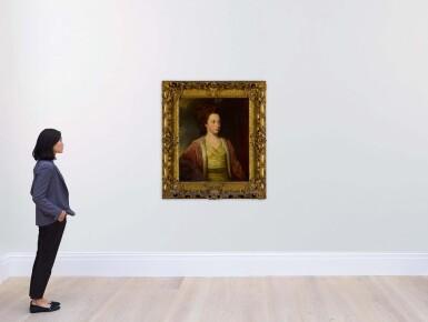 View 4. Thumbnail of Lot 657. Portrait of Frances Alicia Bennet (b. 1749), half-length.