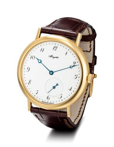 BREGUET | CLASSIQUE, REFERENCE 5140, A YELLOW GOLD WRISTWATCH WITH ENAMEL DIAL, CIRCA 2008