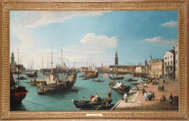 View 2. Thumbnail of Lot 205. Venice, a view of the Bacino di San Marco from the Riva degli Schiavoni, looking West.