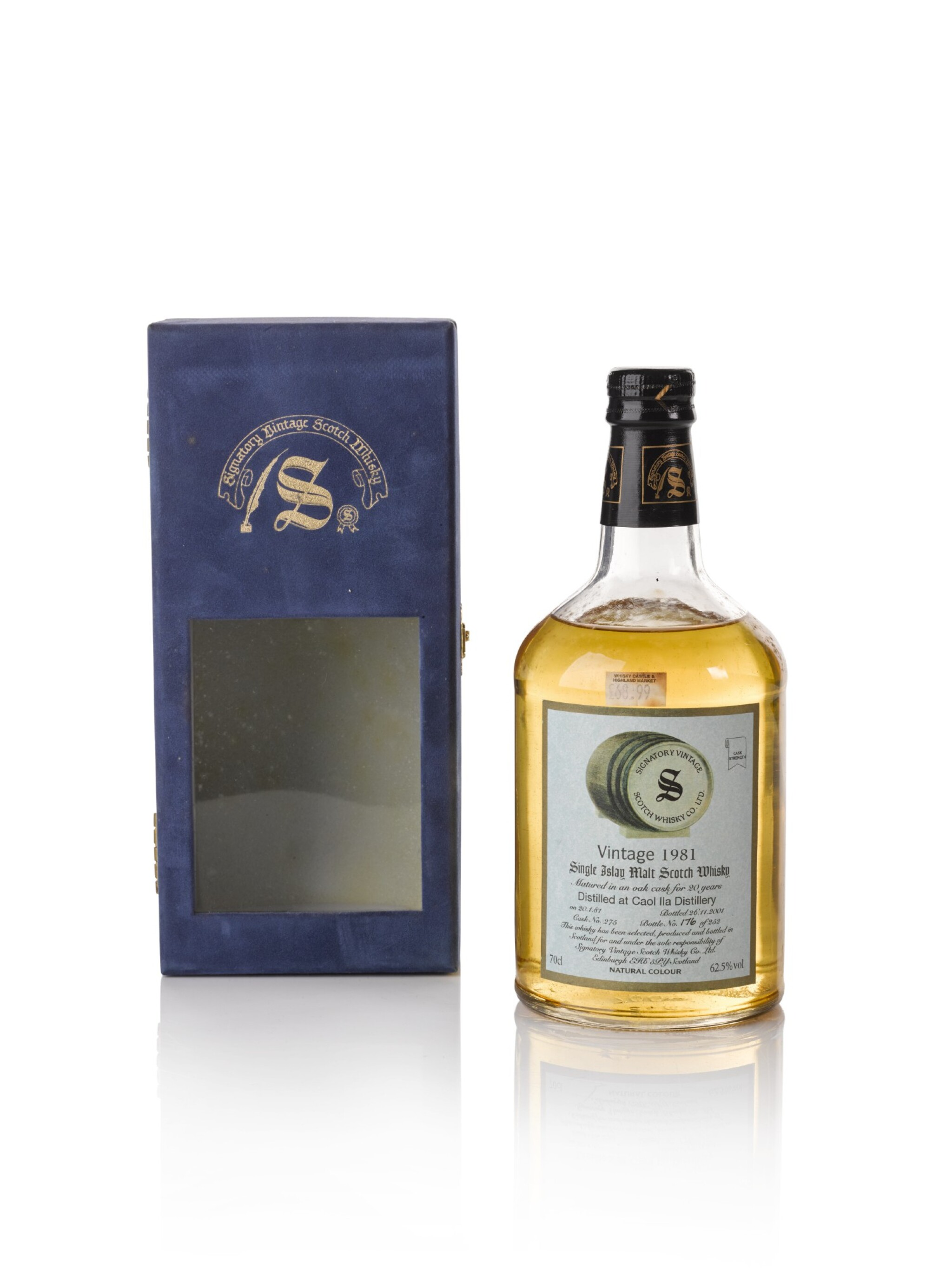 View full screen - View 1 of Lot 31. Caol Ila Signatory Vintage 20 Year Old 62.5 abv 1981 .