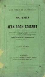 COIGNET. Aux vieux de la vieille ! Auxerre, 1851-1853. 2 volumes in-8. Demi-maroquin vert (Lobstein).