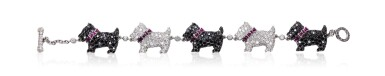 Diamond and ruby bracelet, 'Scottie Dog', Michele della Valle