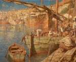 CHARLES MURRAY PADDAY | The Harbour at Bougie, Algeria