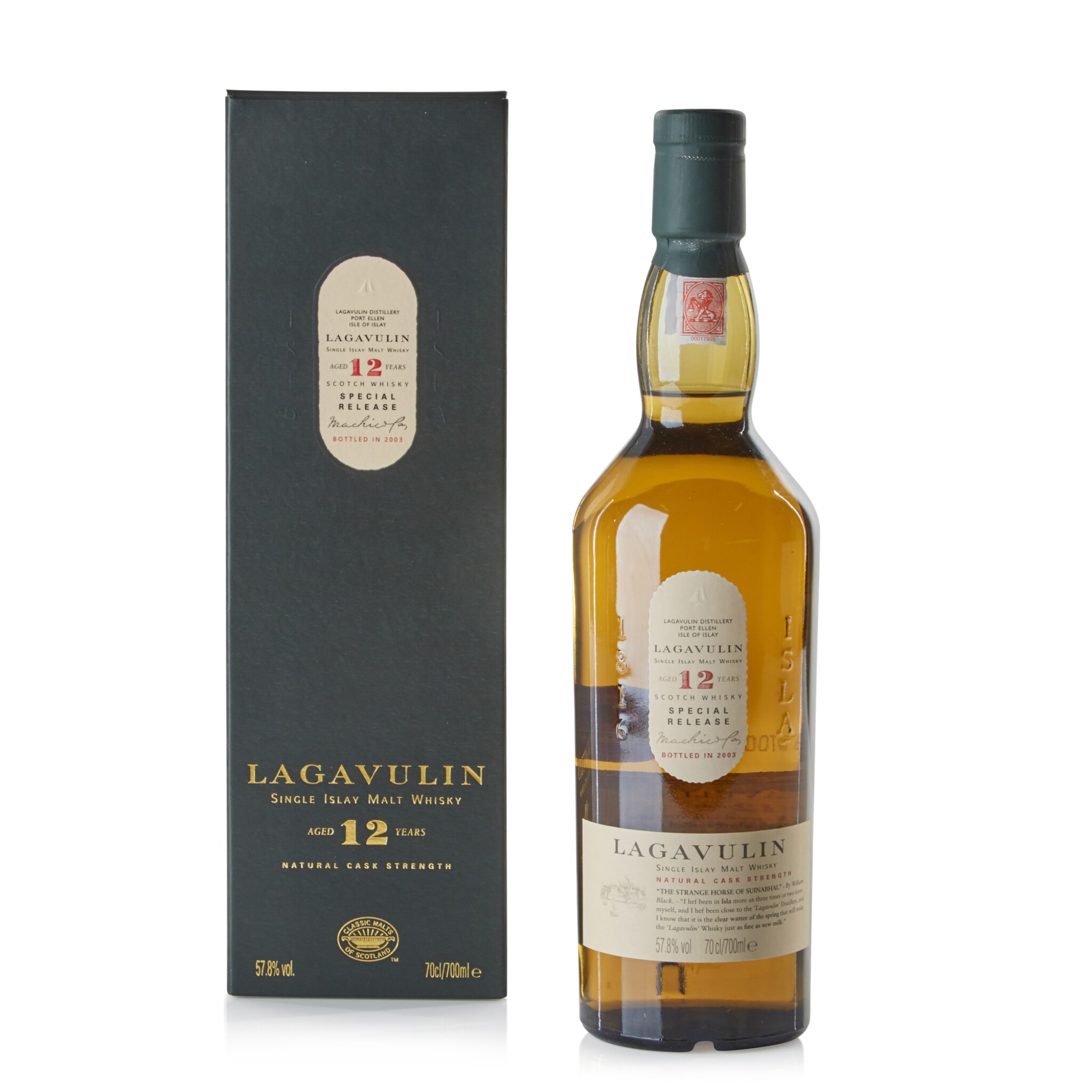 View full screen - View 1 of Lot 115. Lagavulin 12 Year Old 2003 Special Release 57.8 abv NV .