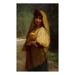 JULES JOSEPH LEFEBVRE | AN ITALIAN GIRL WITH AN ORANGE