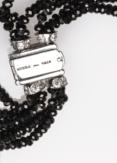 View 6. Thumbnail of Lot 12. Gem set and diamond necklace, 'Elefanti', Michele della Valle.