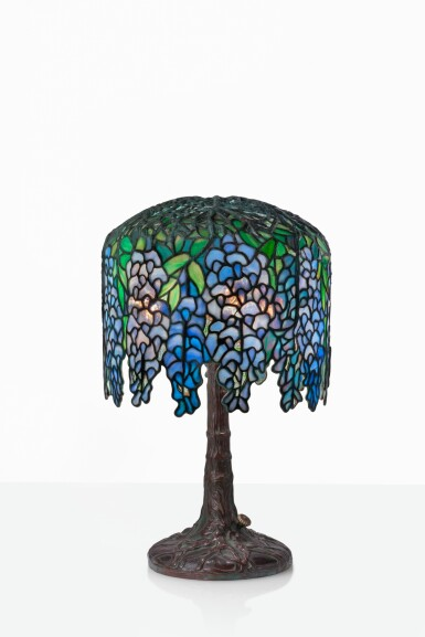 """View 1. Thumbnail of Lot 12. """"Pony Wisteria"""" Table Lamp."""