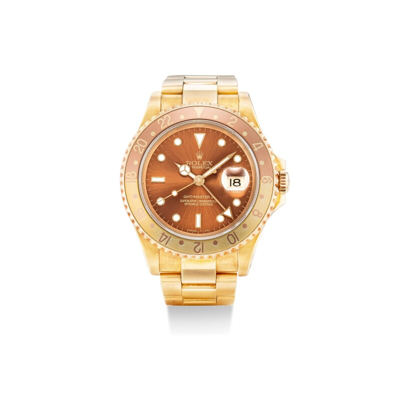GMT-Master II, Reference 16718   A Yellow Gold Wristwatch With Date And Bracelet, Circa 1993