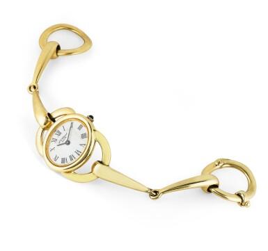 View 2. Thumbnail of Lot 143. Montre bracelet de dame or | Lady's gold bracelet watch.