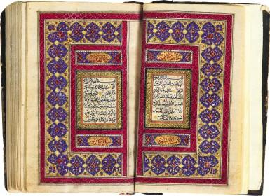 AN ILLUMINATED MINIATURE QUR'AN, COPIED BY ABU AL-QASIM B. ZAYAN AL-'ABIDIN AL-KHAWANSARI, PERSIA, QAJAR, DATED 1277 AH/1860-61 AD