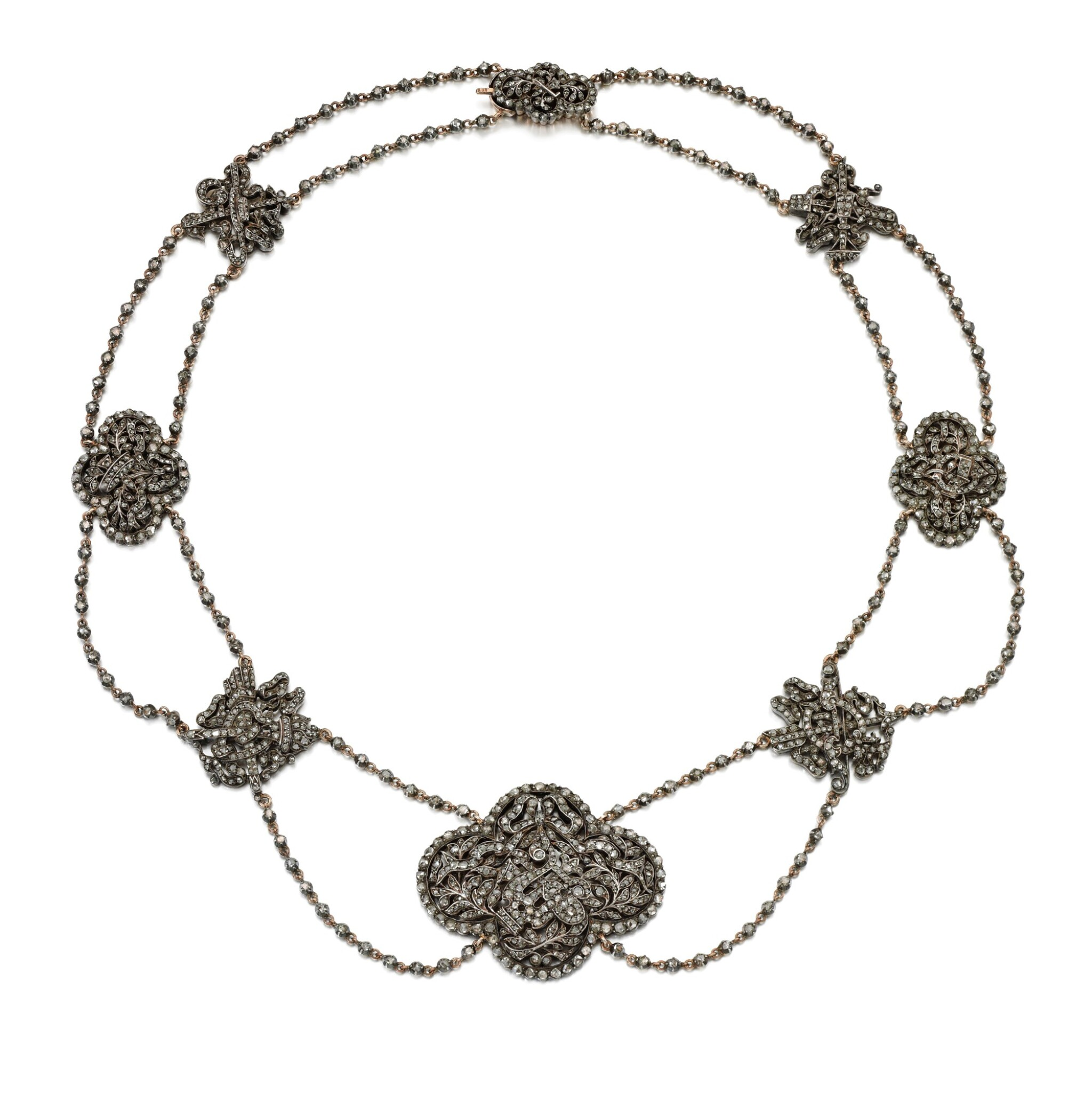 View full screen - View 1 of Lot 222. DIAMOND NECKLACE.