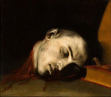 View 1. Thumbnail of Lot 51. JUSEPE DE RIBERA, CALLED SPAGNOLETTO  |  THE SEVERED HEAD OF SAINT JANUARIUS.