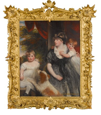 View 2. Thumbnail of Lot 196. Henrietta Maria Vernon Atherton, 2nd Lady Lilford (d. 1820), of Atherton Hall, Leigh, with her two children.