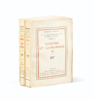 View 2. Thumbnail of Lot 301. Le Côté de Guermantes + Sodome et Gomorrhe. 2 éd. orig., chacune avec long envoi à Henri de Régnier..