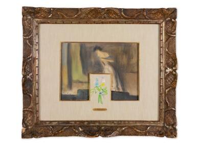 View 2. Thumbnail of Lot 27. PABLO PICASSO | TWO DRAWINGS: (I) YVETTE GUILBERT; (II) BOUQUET DE FLEURS.