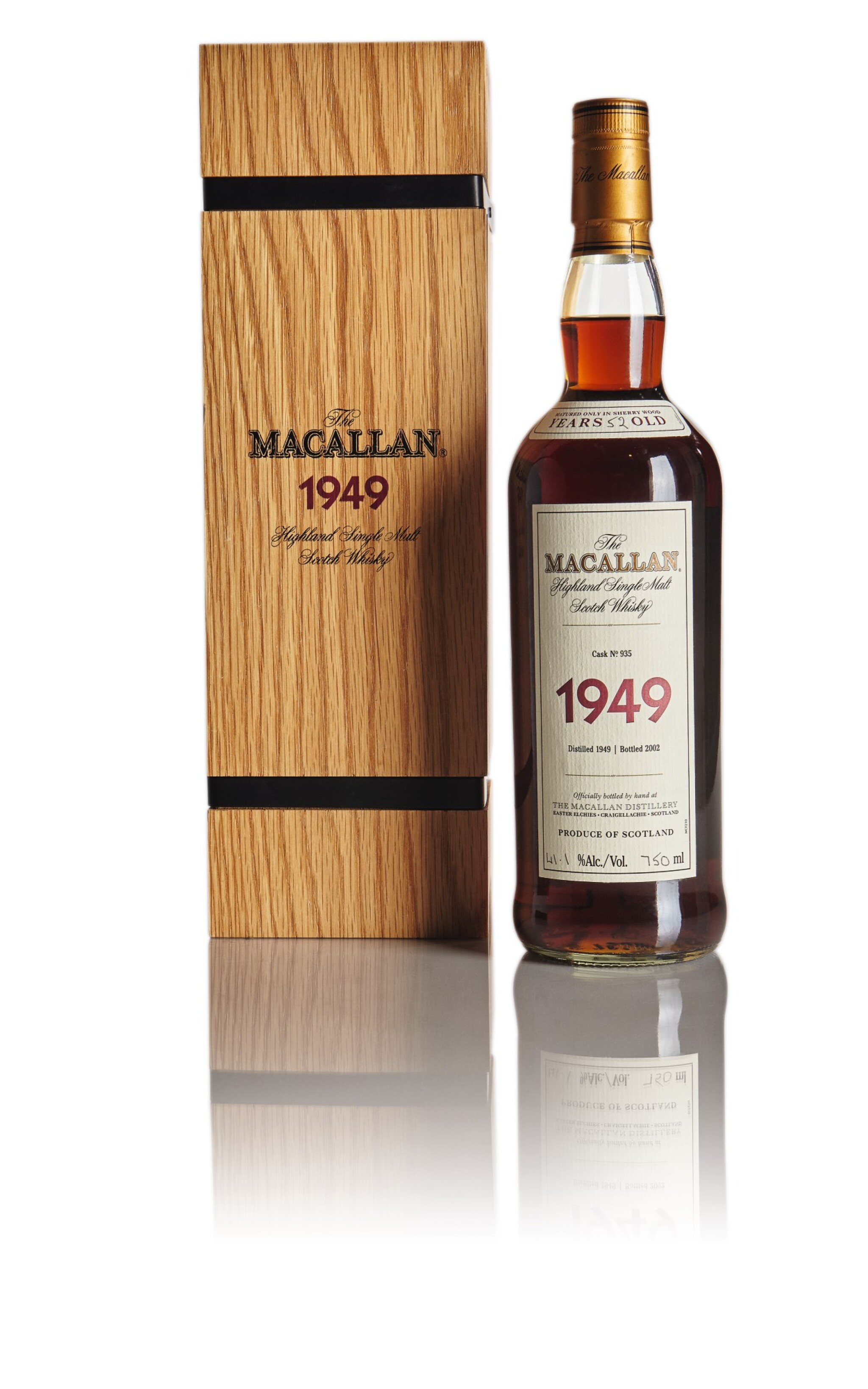 View full screen - View 1 of Lot 131.  THE MACALLAN FINE & RARE 52 YEAR OLD 41.1 ABV 1949.
