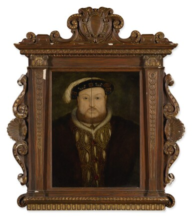 View 3. Thumbnail of Lot 2. Portrait of King Henry VIII, bust-length.