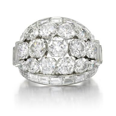 View 1. Thumbnail of Lot 156. Diamond ring.