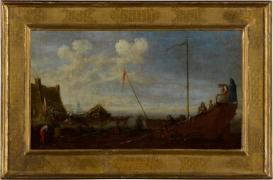 View 5. Thumbnail of Lot 99. A pair of shipping scenes with Maltese ships.
